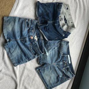 Bundle of girls denim shorts